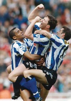 Sheffield Wednesday David Hirst, Mark Bright and John Harkes