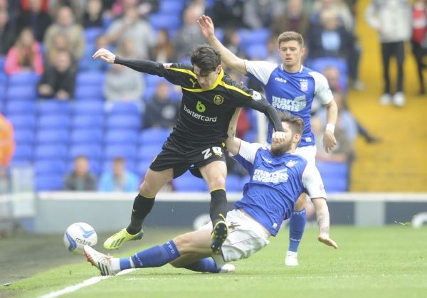 Ipswich Town v Sheffield Wednesday SkyBET Championship Kieron Lee loses out to Anthony Wordsworth
