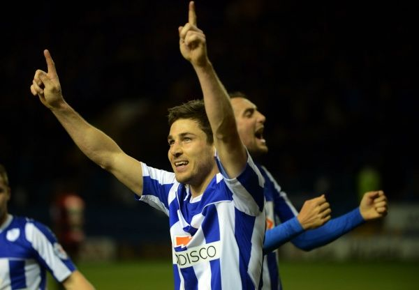 owls v qpr 19. Sheffield Wednesday v QPR......Lewis Buxton celebrates his goal