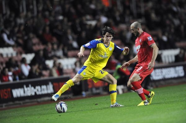 Southampton v Sheffield Wednesday.....Kieran Lee with Saints Steve De Ridder