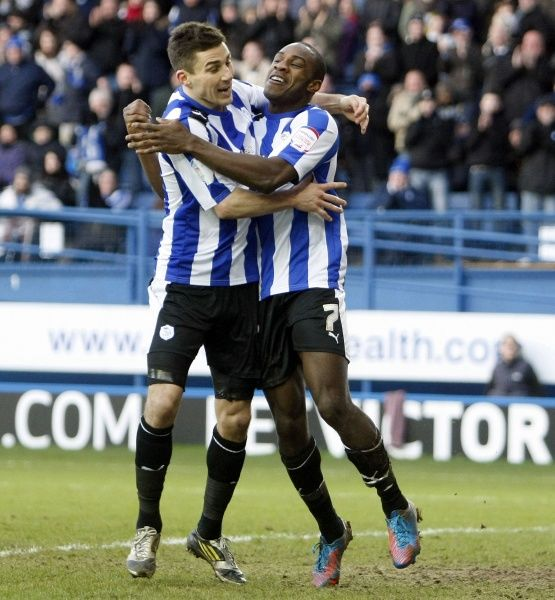 Sheffield Wednesday v Brighton..... weds Michail Antonio scores his sides third and celebrates