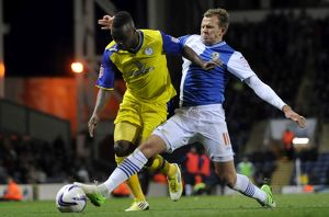Blackburn Rovers v Sheffield Wednesday,,,,,Jermaine Johnson tackled by Rovers Jordan
