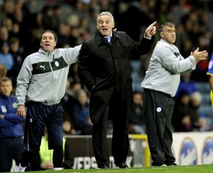 Blackburn Rovers v Sheffield Wednesday,,,,,Owls Manager Dave Jones urges his team on