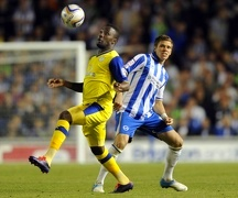 Brighton v Sheffield Wednesday....Jermaine Johnson gets away from Dean Hammond