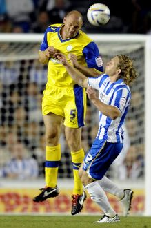 Brighton v Sheffield Wednesday....Owls Martin Taylor beats Albions Craig Mackail-Smith