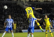 Brighton v Sheffield Wednesday.....Owls Jay Bothroyd gets in an header