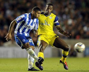 Brighton v Sheffield Wednesday.....Owls Jose Semedo closes down Albions Liam Bridcutt