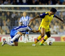 Brighton v Sheffield Wednesday.....Albions Adam El-Abd pulls back Owls Jay Bothroyd