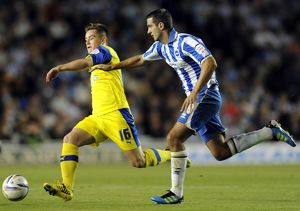 Brighton v Sheffield Wednesday.....Owls Rhys McCabe gets away from Albions Gary Dicker