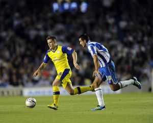 Brighton v Sheffield Wednesday....Rhys McCabe with Gary Dicker