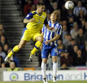Brighton v Sheffield Wednesday.....Owls Joe Mattock flies in to beat Albions Craig