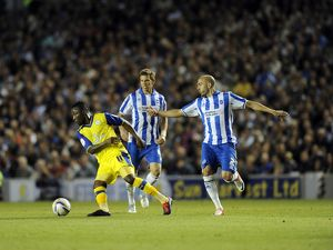 Brighton v Sheffield Wednesday.....Owls Jermaine Johnson beats Albion pair of Dean