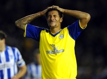 Brighton v Sheffield Wednesday....dejection for Owl Jay Bothroyd