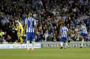 Brighton v Sheffield Wednesday....GOAL...Wayne Bridge free kick goal