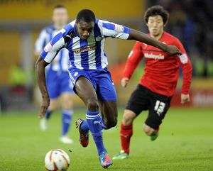 Cardiff City v Sheffield Wednesday.....Owls Michail Antonio gets away from Citys