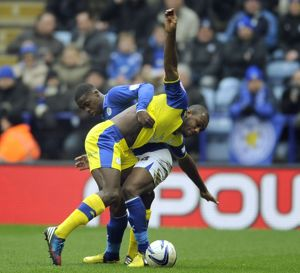 Leicester City v Sheffield Wednesday......Michail Antonio with Jeff Schlupp