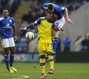 Leicester City v Sheffield Wednesday......Citys Michael Kane over Leroy Lita