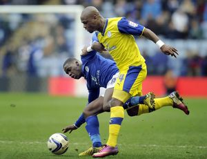 Leicester City v Sheffield Wednesday......Leroy Lita with jeff Schlupp