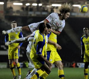 MK Dons v Sheffield Wednesday.....Dons Man of the Match Alan Smith all over the Owls