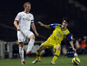 MK Dons v Sheffield Wednesday.....Owls Kieran Lee closes down Dons Dean Lewington