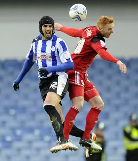 Sheffield Wednesday v Bristoil City.....Miguel Llear with Citys Neil Danns