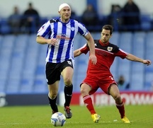 Sheffield Wednesday v Bristoil City.....Owls skipper Martin Taylor gets away from