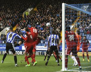 Sheffield Wednesday v Bristoil City.....GOAL...Miguel Llera heads home