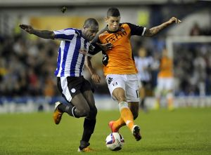 Sheffield Wednesday v Fulham.....Owls Michail Antonio with Fulhams Matthew Briggs