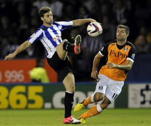 Sheffield Wednesday v Fulham.....Owls Ridri beats Fulhams Aaron Hughes