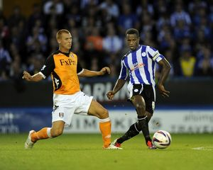 Sheffield Wednesday v Fulham......Jose Semedo beats Steve Sidwell