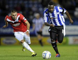 Sheffield Wednesday v Huddersfield....Jermaine Johnson gets away from Jack Hunt
