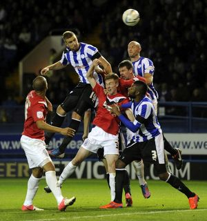 Sheffield Wednesday v Huddersfield Town...Mark Beevers header