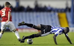 Sheffield Wednesday v Huddersfield Town...Owls & Michail Antonio flatened by Paul Dixon