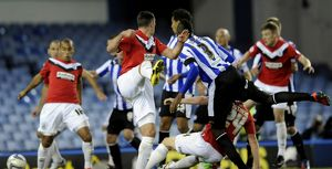 Sheffield Wednesday v Huddersfield....GOAL...Reda Johnson pulls one back