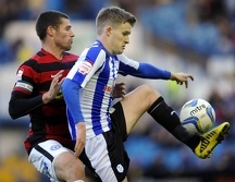 Sheffield Wednesday v Peterborough Owls Paul corry with Michael Bostwick