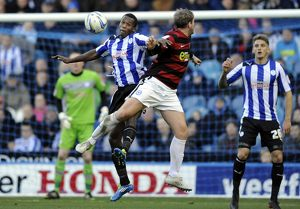 Sheffield Wednesday v Peterborough Utd....Owls Michail Antonio beats Posh Grant McCann