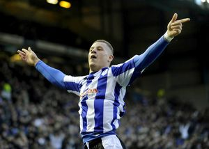 Sheffield Wednesday v Peterborough Utd....GOAL...Owls Ross Barkley celebrates his goal