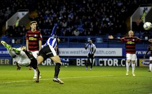 Sheffield Wednesday v Peterborough Utd....GOAL....Owls Miguel Llera heads home the