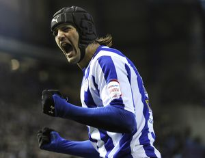 Sheffield Wednesday v Peterborough Utd....GOAL....Owls Miguel Llera celebrates his goal