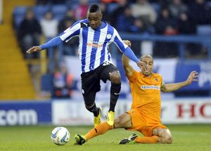 Sheffield Wednesday v Wolves......Jermaine Johnson gets away from Karl Henry
