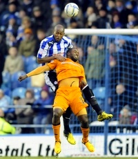 Sheffield Wednesday v Wolves......Anthony Gardner beats Sylvan Ebanks-Blake