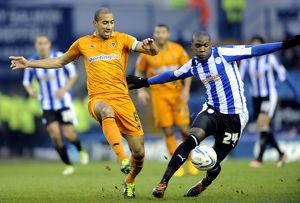 Sheffield Wednesday v Wolves......Jeremy Helan gets away from Karl Henry
