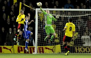 Watford v Sheffield Wednesday.....Owls keeper Chris Kirkland one handed save