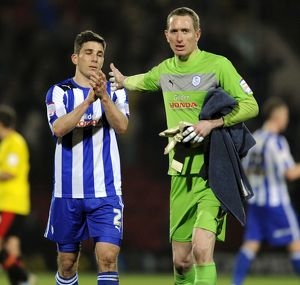 Watford v Sheffield Wednesday.....Dejected Owls pair of Lewis Buxton and keeper Chris