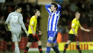 Watford v Sheffield Wednesday.....dejected Owls Kieran Lee