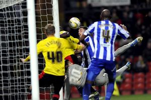 Watford v Sheffield Wednesday.....So close to a second goal Watford some how clear