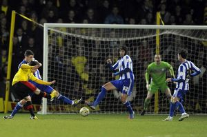 Watford v Sheffield Wednesday.....GOAL...Watford winner from Fernando Forestieri