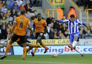 Wolverhampton Wanderers v Sheffield Wednesday....Owls jay Bothroyds fires in a shot