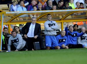 Wolverhampton Wanderers v Sheffield Wednesday....Anxious looks on the Owls bench