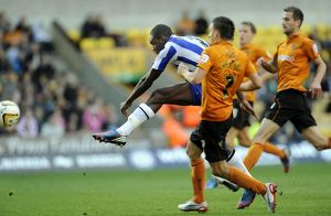 Wolverhampton Wanderers v Sheffield Wednesday....Owls Michail Antonio fires in a shot